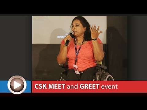 Chennai Super Kings Meet & Greet, Bangalore : Padma Shri Malathi Holla, Intl para athlete