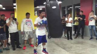 Manny Pacquiao begins training for Jessie Vargas fight