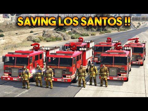GTA 5 : SAVING LOS SANTOS !! (FIREFIGHTER MOD)