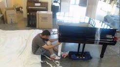 Time Lapse Yamaha Grand Piano packing and shipping process