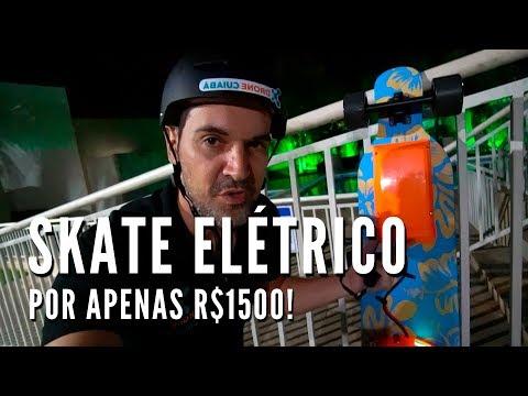 Skateboard Elétrico Caseiro por R$1500 - Drone Cuiabá