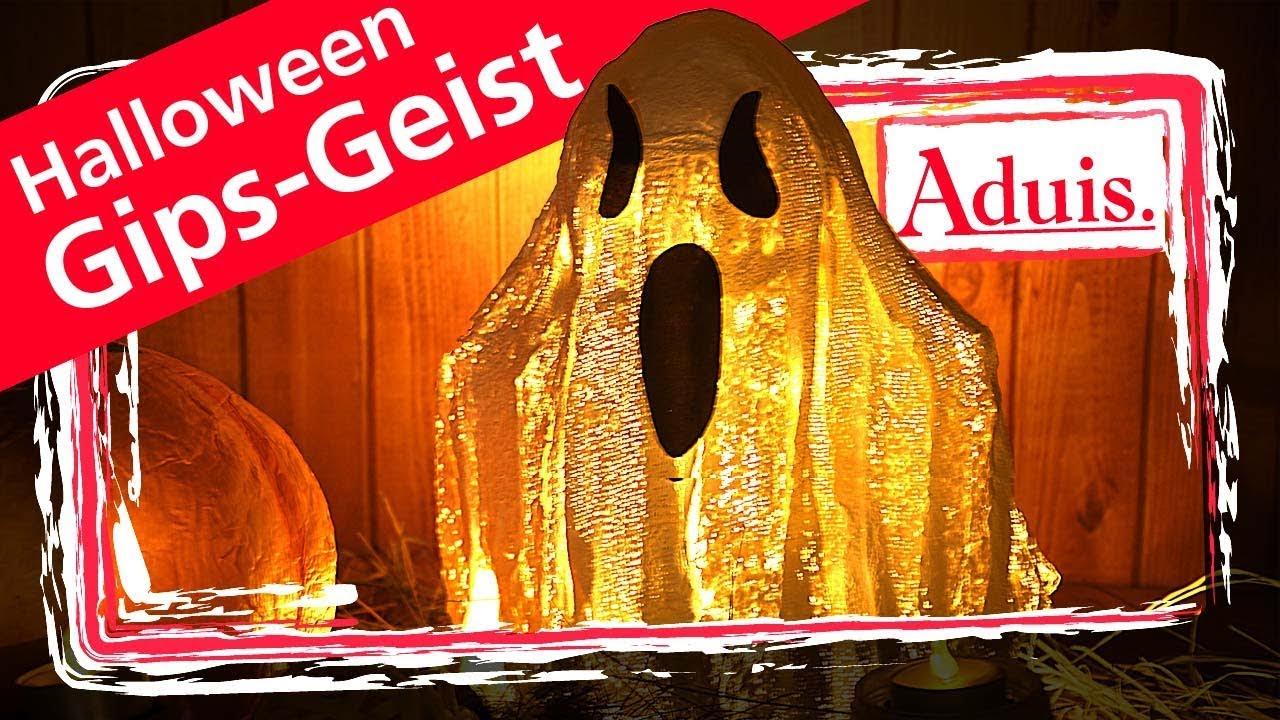 gipsbinden basteln halloween dekoration geist youtube. Black Bedroom Furniture Sets. Home Design Ideas