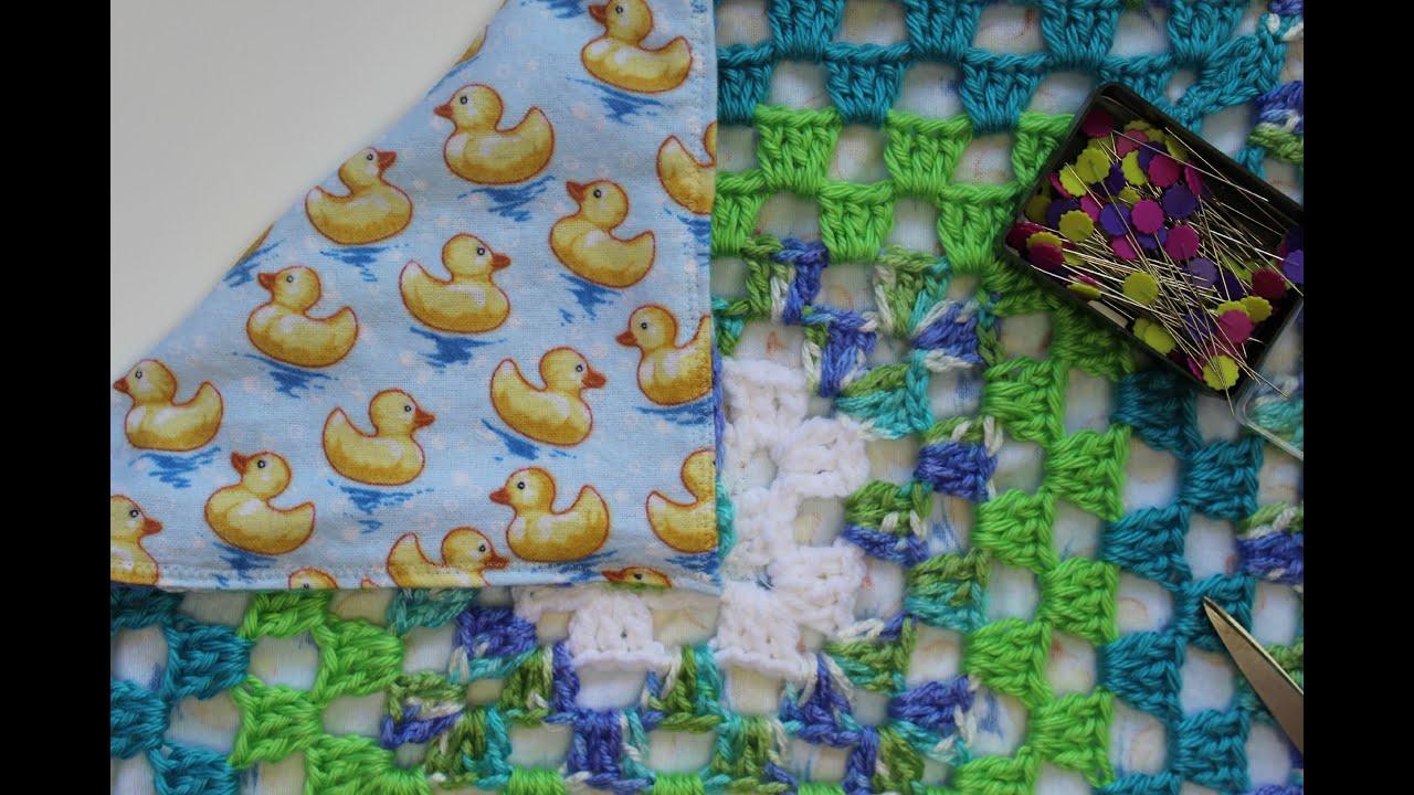 How To Sew A Lining Crochet Blankets Youtube Jaket Fleece Verdure Green Combie