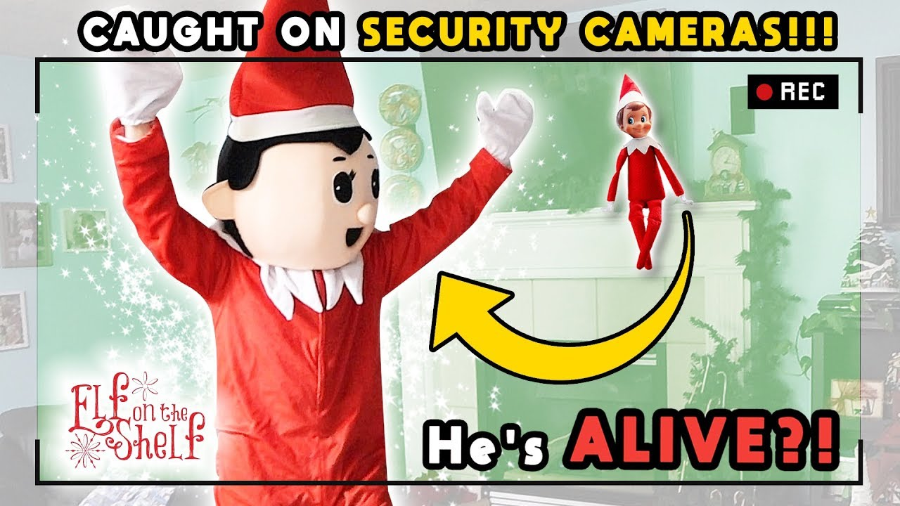 Elf On The Shelf Caught Moving On Security Camera In Real