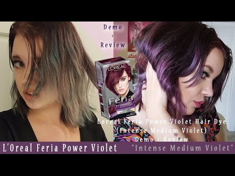 Loreal Feria Violet Hair Dye Intense Medium Demo Review