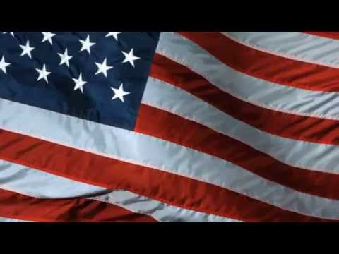 [10 Hours] American Flag Waving, Video & Audio [1080HD] Slow