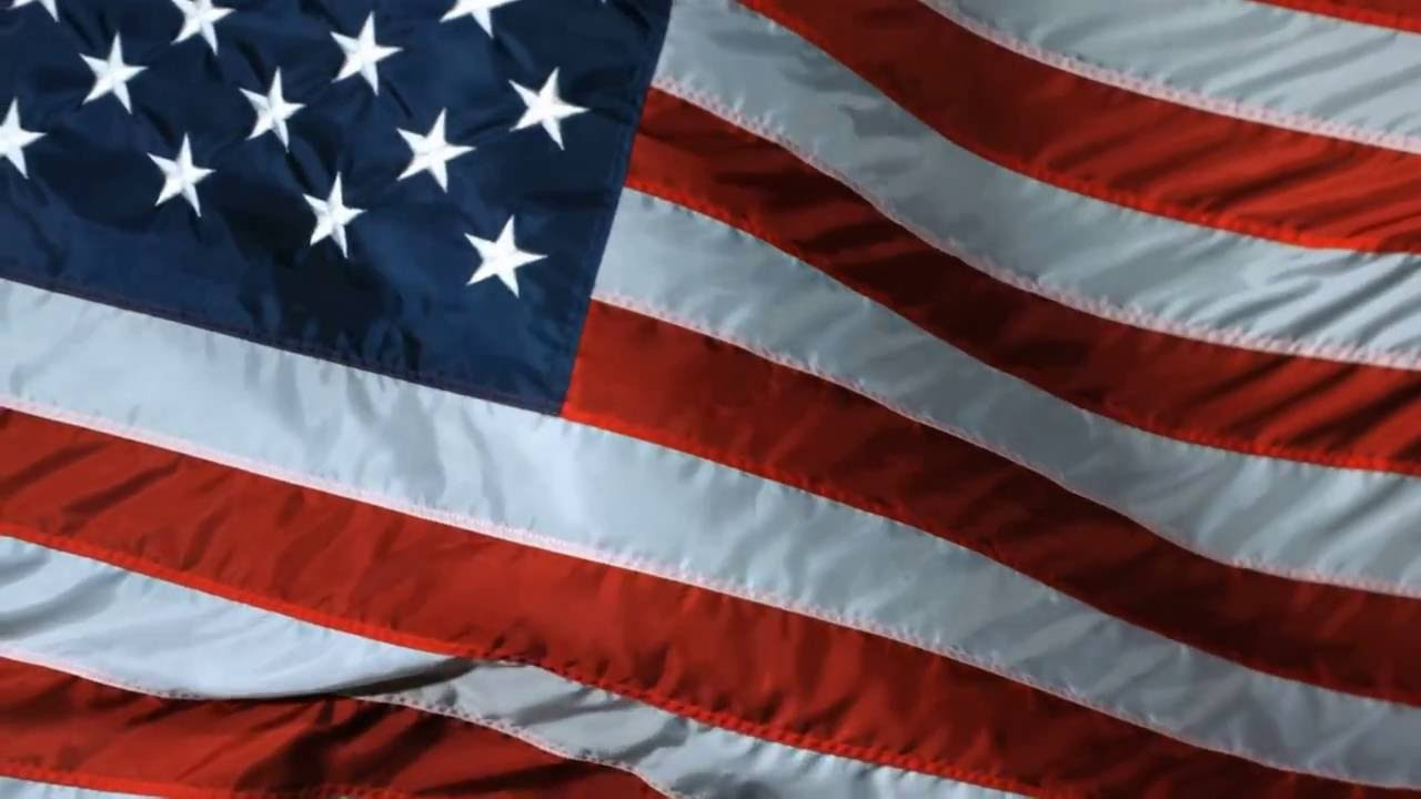 10 Hours American Flag Waving Video & Amp Audio 1080hd