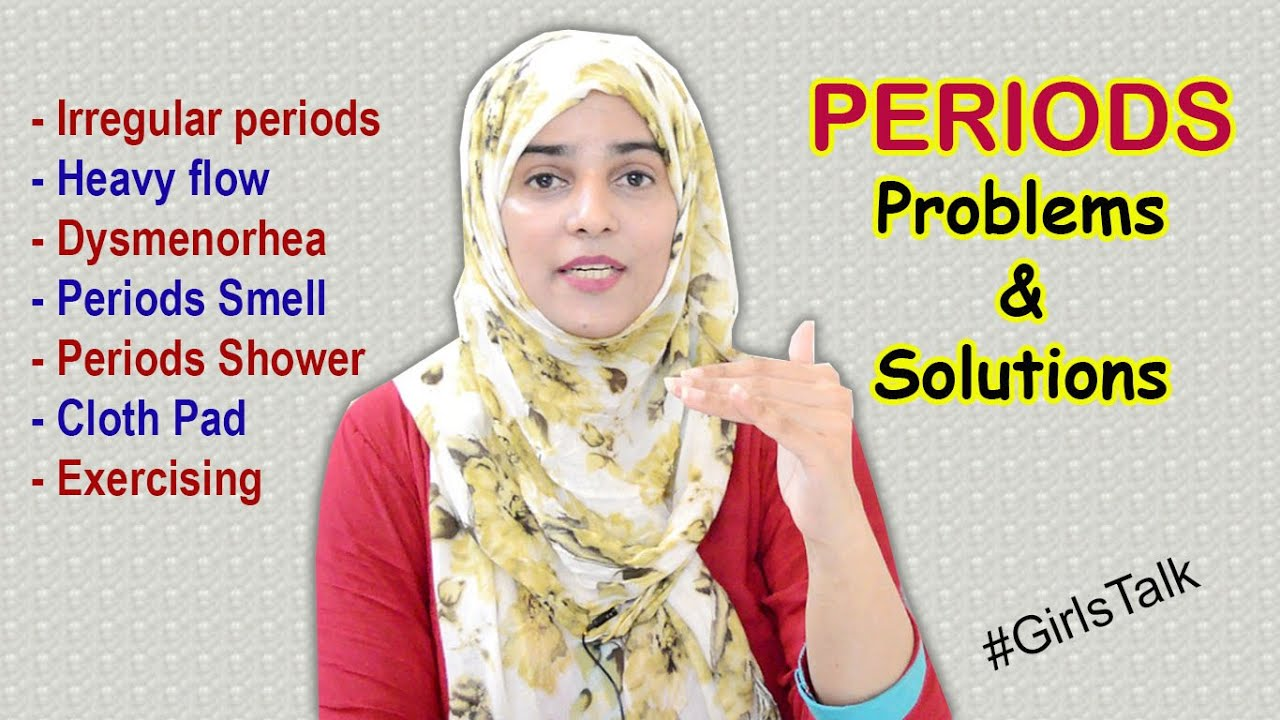 12 Common PERIODS PROBLEMS every Girl should Know ||   #GirlsTalk  .......... (Eng Sub)