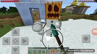 Membuat kandang salju part3 Minecraft survival di map rohidgame #10
