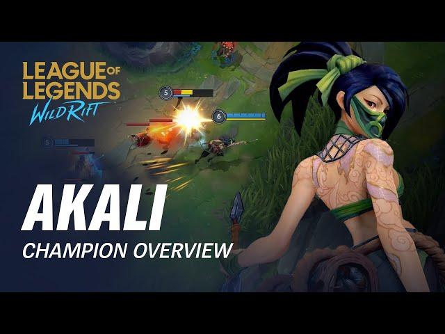 Akali Champion Overview | Gameplay - League of Legends: Wild Rift