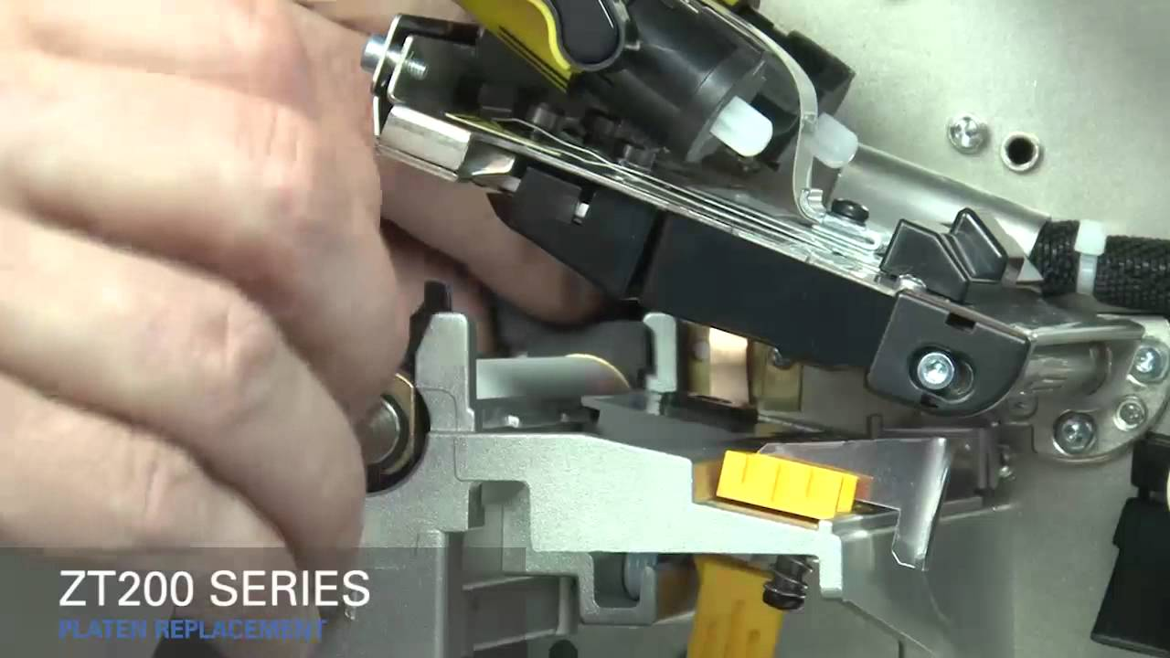 Zebra ZT200 Series How-To Replace Platen Roller