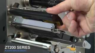 Zebra ZT200 Series How-To Replace Platen Roller