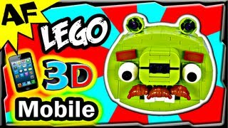 3D Mobile MOUSTACHE PIG - Lego Angry Birds Animated Review with Building Instructions