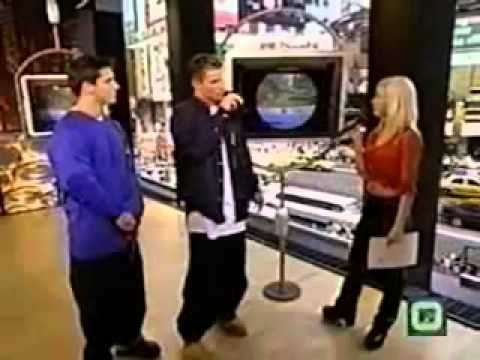 Nick and Jeff From 98 Degrees Interview Christina Aguilera On TRL