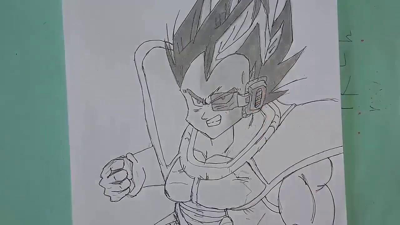 فيديو رسم فيجيتا بواسطة قلم الرصاص فقط Youtube