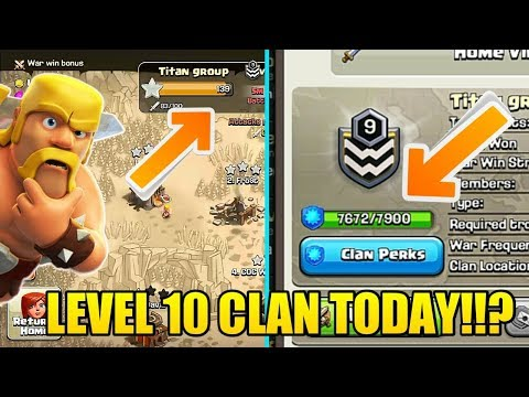 LEVEL 10 CLAN TODAY !!? TITAN GROUP LIVE WAR FOR LEVEL 10 CLAN 🔥