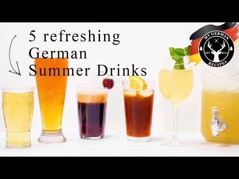5 Common German Summer Drinks ✪ MyGerman.Recipes