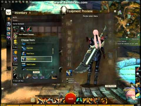 Guild Wars 2 Heros Chest Pact Weapon Container Mentors Kit
