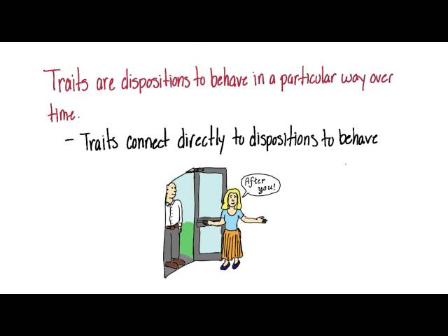 Personality traits - Intro to Psychology