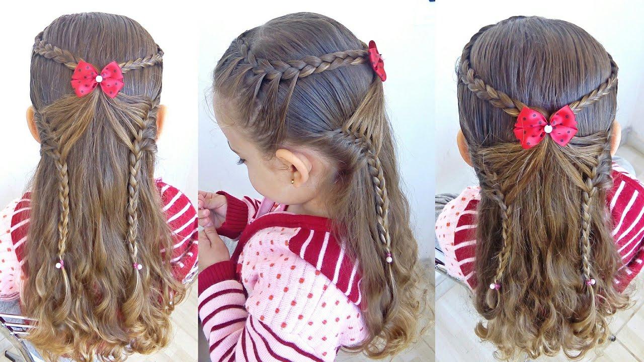 Penteados com trança Criança