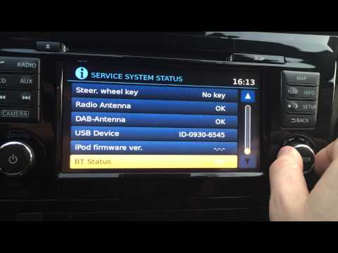 Nissan qashqai 2014 connect - hidden secret DIAGNOSTIC / TEST / SERVICE MENU