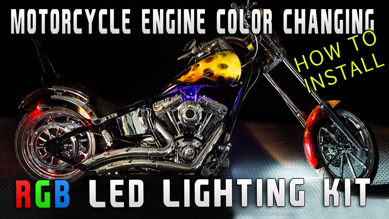 How To Install Motorcycle Color Changing Led Rgb Kit Youtube