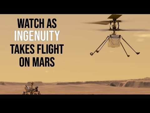 Coverage of the Ingenuity Mars helicopter�€�s first flight!