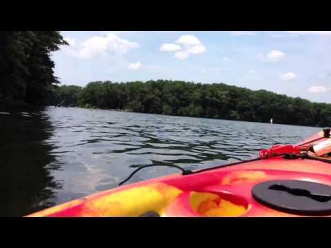 Kayaking/fishing On Big Blue Lake