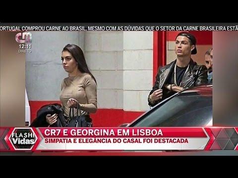 Cristiano Ronaldo Mostrou Lisboa a  Georgina Rodriguez