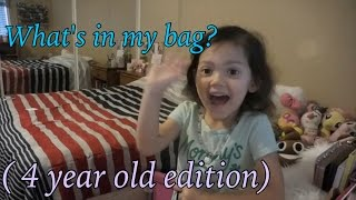 whats in my bag | 4 year old edition