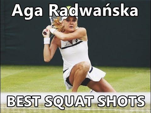 Agnieszka Radwańska Squat Shots Compilation