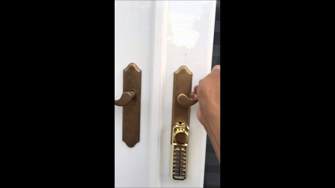 French Door Keyless Interconnected Lock  YouTube