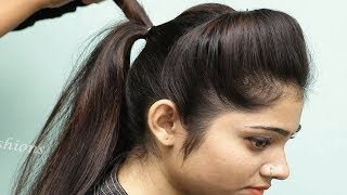 Easy Puff hairstyles for girls || Hairstyle for medium hair | New Puff hairstyle for wedding/party