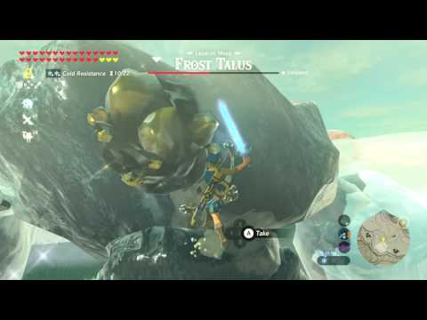 Fully Powered Master Sword DESTROYS Frost Talus - Zelda Breath of the Wild