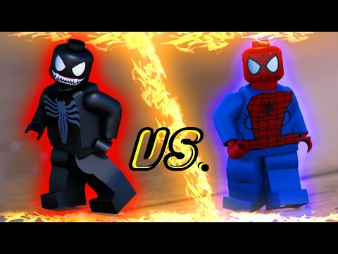 LEGO Spiderman vs. Venom Superhero Dance Battle - In Real Life