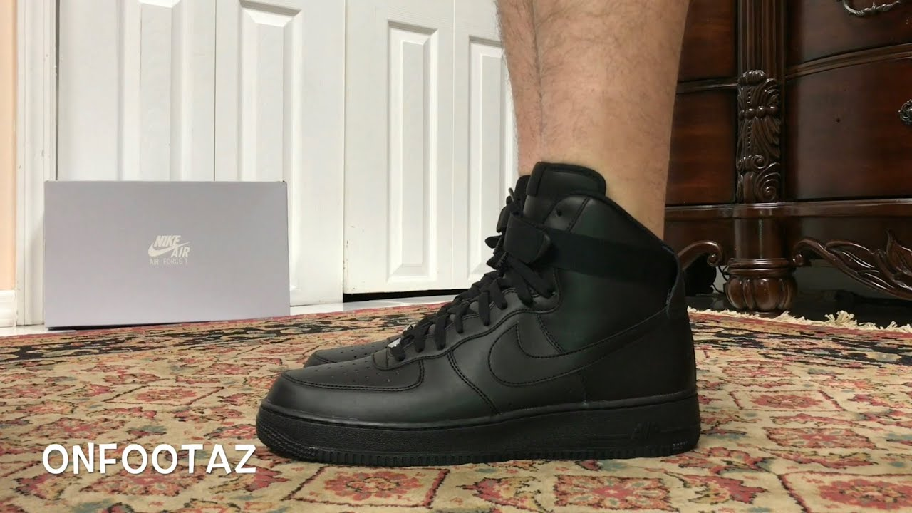 timeless design 521d8 5effa Nike Air Force 1 High Black On Foot