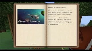 Modded Minecraft Space Astronomy #1 - The Quest Book