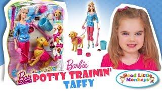 Barbie Potty Trainin' Taffy - Barbie Playset Review and Play