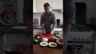 Салаты из арбуза и дыни с фетой.