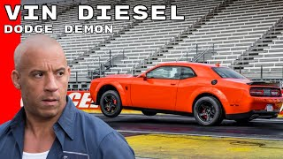 Vin Diesel 2018 Dodge Challenger SRT Demon