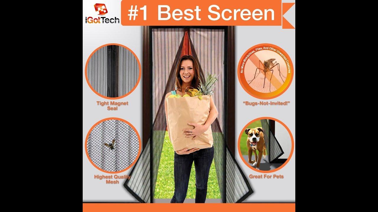 Review Magnetic Screen Door Full Frame Velcro Fits Door Openings