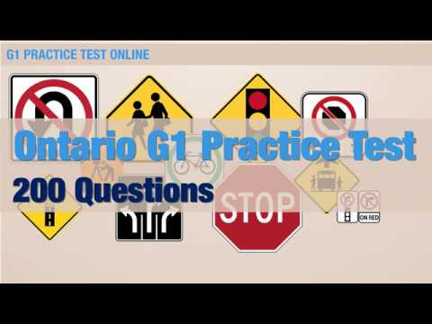Ontario G1 Practice Test (200 Questions)