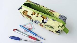 Necessaire Para Lápis Plastificada por Arte de Paninho