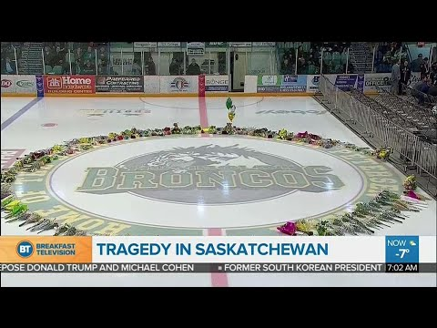 Emotional vigil in Humboldt Saskatchewan Sunday night