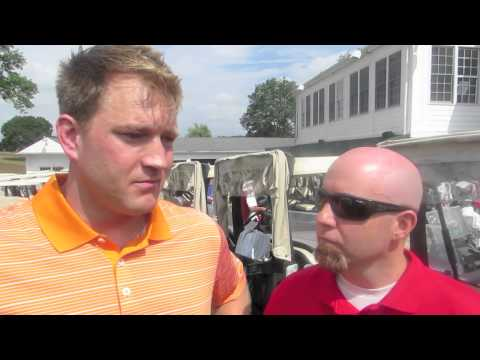 Todd Fedoruk and Jason Myrtetus at the Flyers Alumni Golf Outing