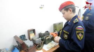Урок материальной истории в кадетской школе МЧС Хабаровска
