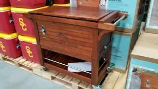 costco tommy bahama 100qt wood rolling cooler 197