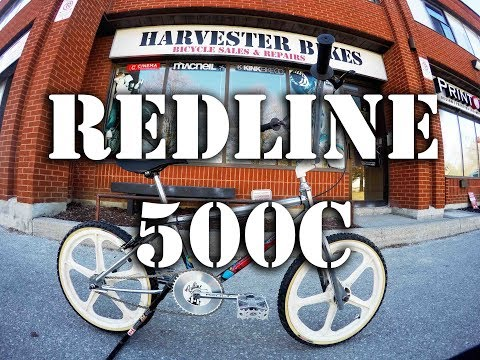 Custom 1986 Redline 500c Old School Bmx Build Harvester Bikes Youtube