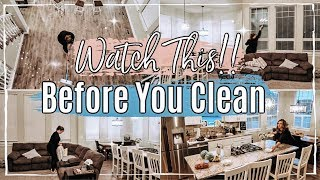 NEW AFTER DARK CLEAN WITH ME 2019 :: RELAXING SPEED CLEANING MOTIVATION :: SAHM CLEANING ROUTINE