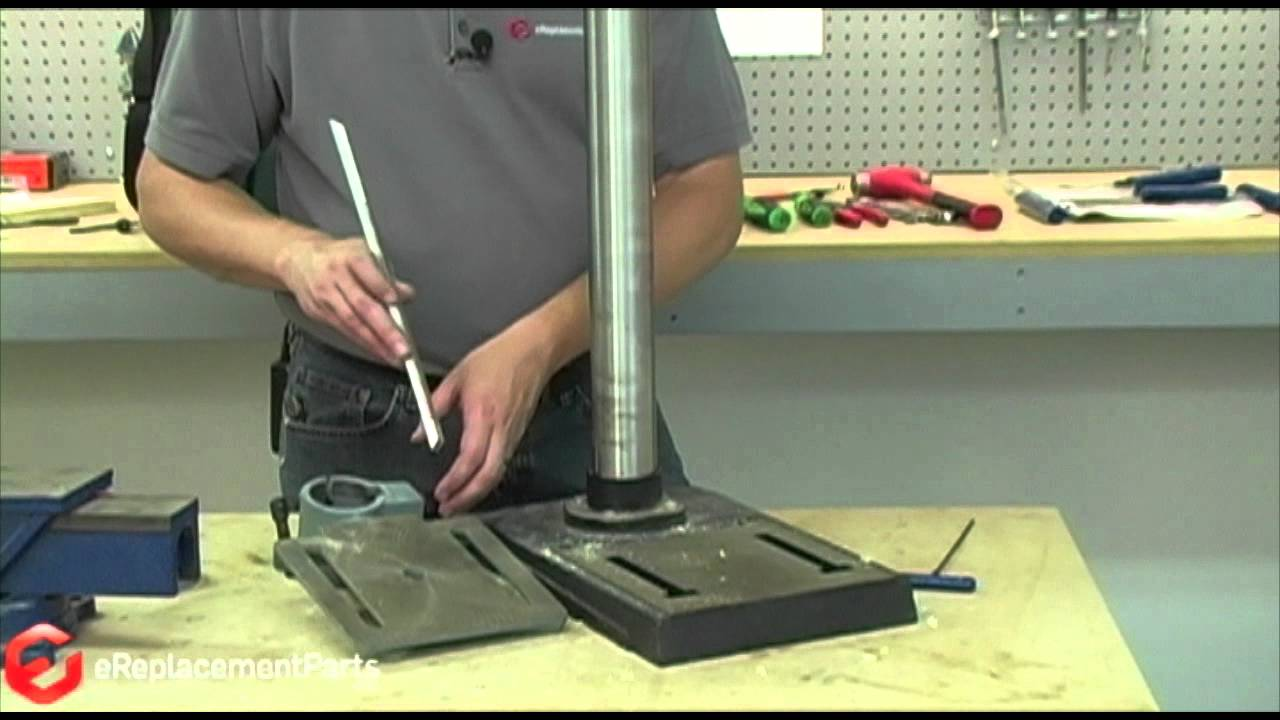 How To Replace The Adjusting Rack On A Drill Press Youtube
